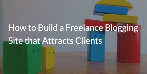 build freelance blogging site