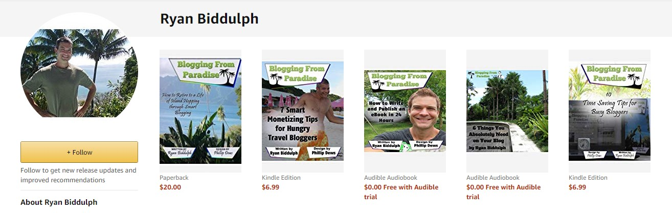 ryan biddulph ebooks