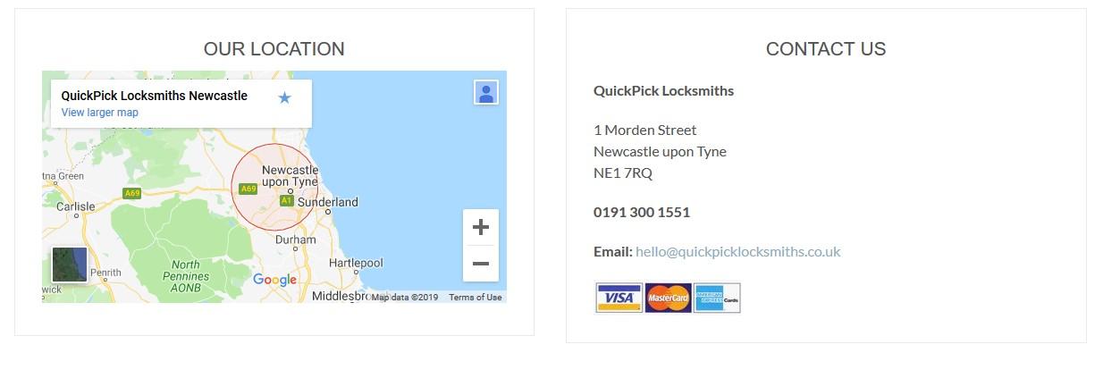 quickpick locksmiths google maps