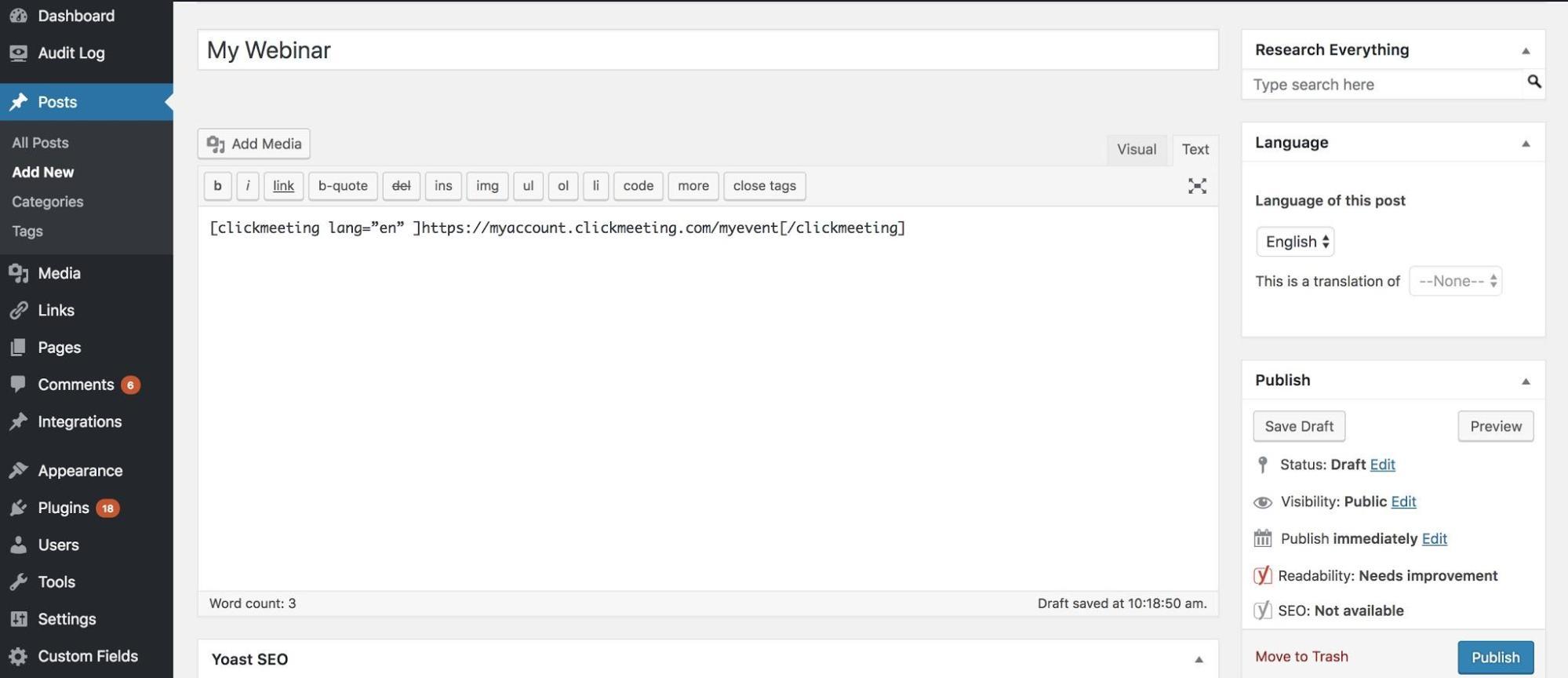 hosting webinars wordpress