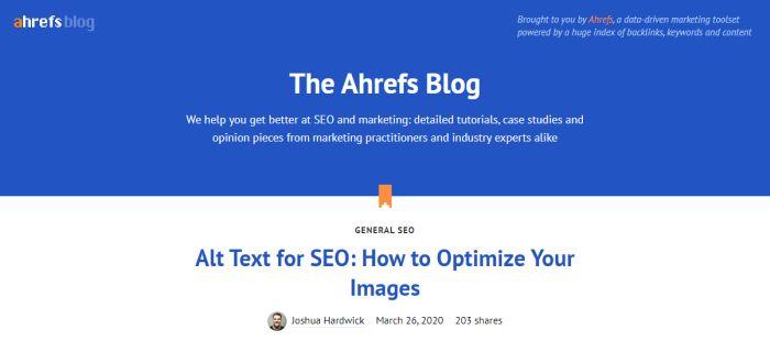 ahrefs blog